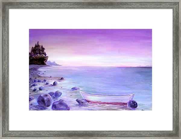 Coming Ashore Framed Print