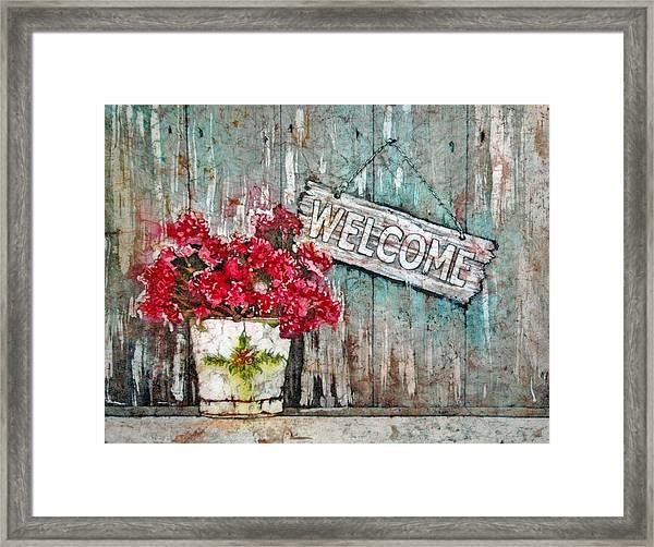 A Warm Welcome Framed Print