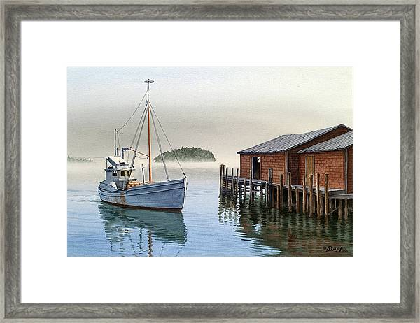 Coming In Framed Print
