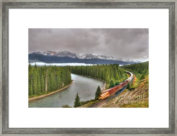 Coming 'round The Bend' Framed Print