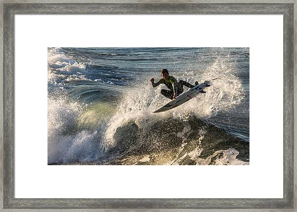 Coming Up For Air Framed Print