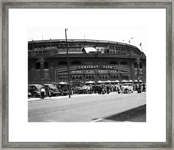 Comiskey Park Looms Framed Print