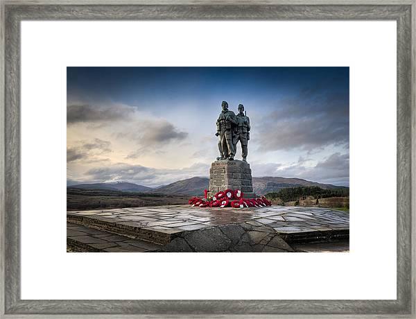 Commando Memorial At Spean Bridge Framed Print