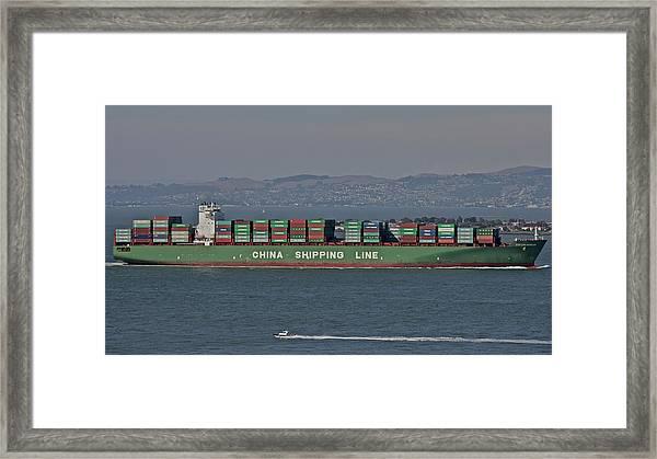 Commercial Traffic Framed Print