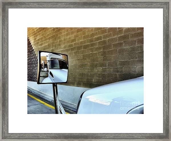 Commercial Truck Framed Print
