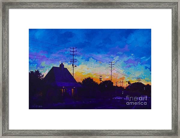 Commuter's Sunset Framed Print