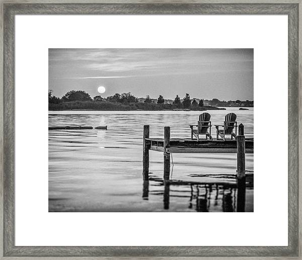 Framed Print featuring the photograph Company At Sunset by Steve Stanger