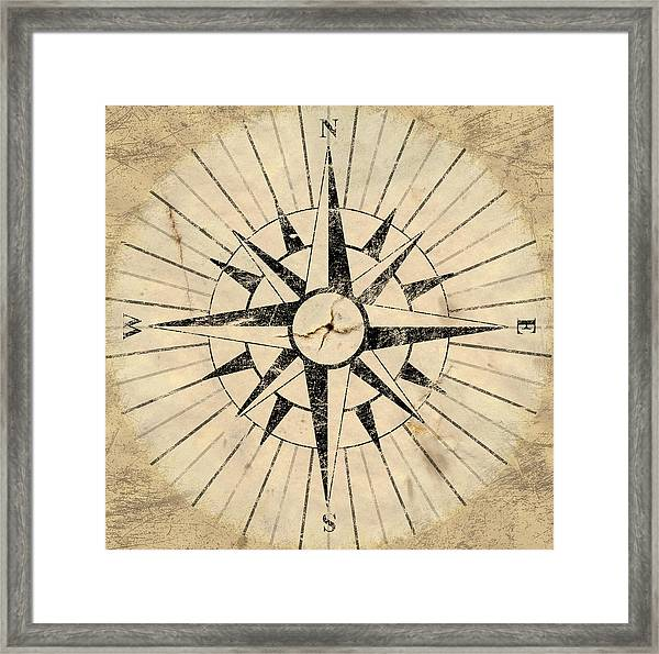 Compass Face Framed Print