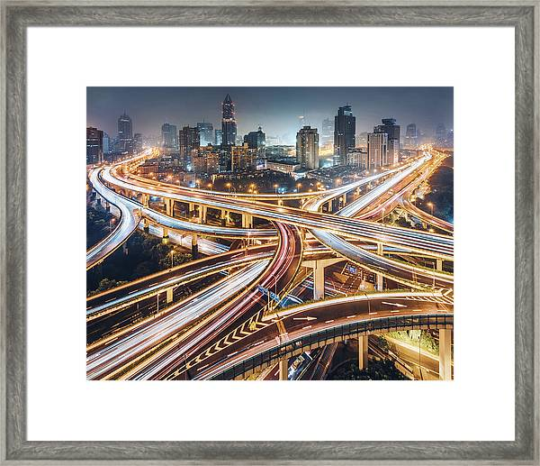 Composition Of The City Framed Print