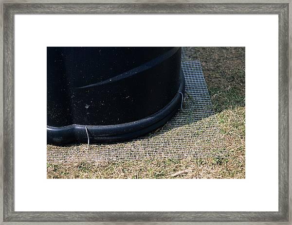 Compost Bin Protection Framed Print