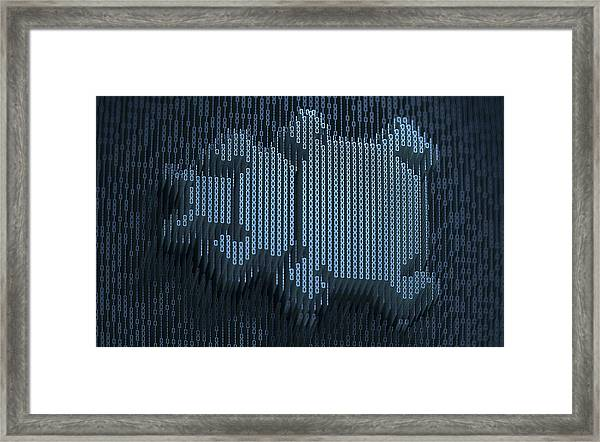 Computer Bug In Three Dimensional Framed Print