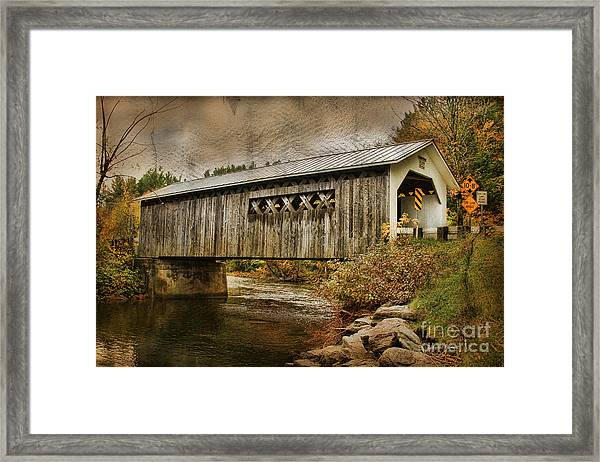 Comstock Bridge 2012 Framed Print