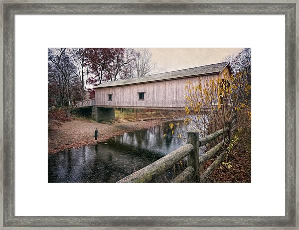 Comstock Covered Bridge Framed Print