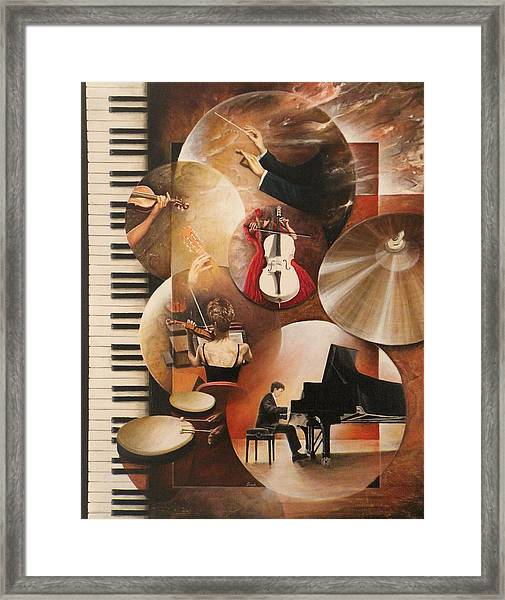 Concerto Pour Piano Framed Print by Frank Godille