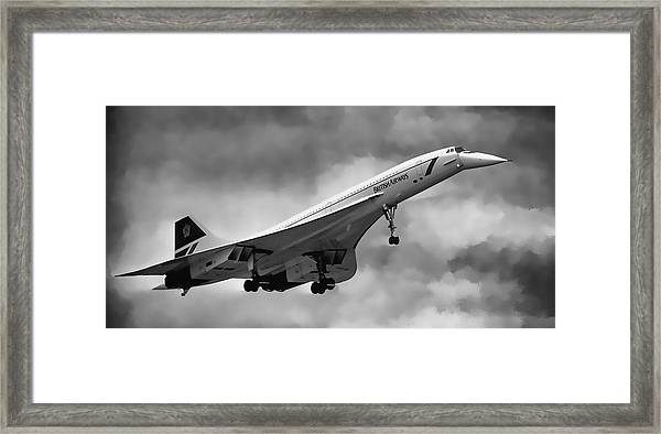 Concorde Supersonic Transport S S T Framed Print