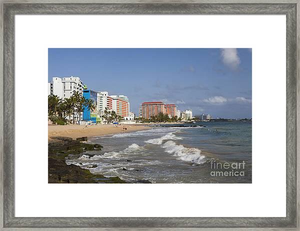 Condado Beach San Juan Puerto Rico Framed Print