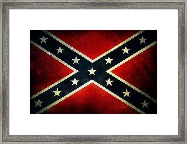 Confederate Flag 4 Framed Print