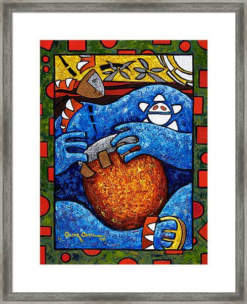 Conga On Fire Framed Print