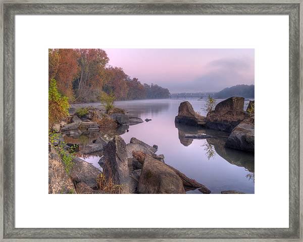 Congaree River At Dawn-1 Framed Print