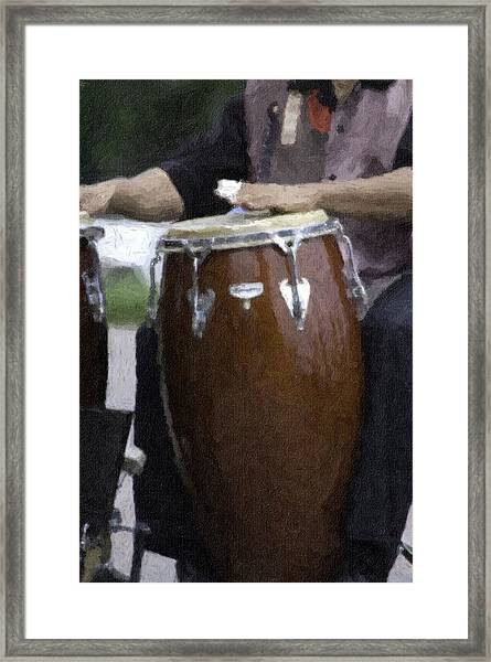 Congas Framed Print