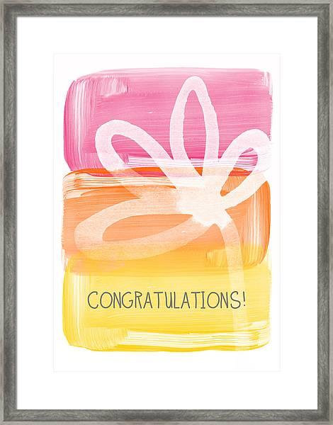 Congratulations- Greeting Card Framed Print