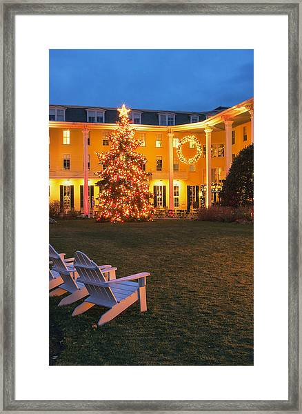 Congress Hall Christmas Framed Print