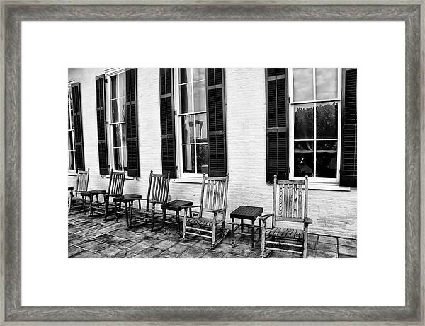 Congress Hall Rockers - Cape May Framed Print