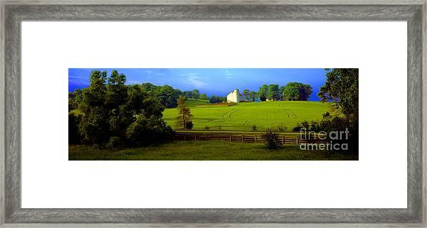 Conley Road Farm Spring Time Framed Print