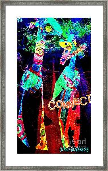 Connect Framed Print by Currie Silver