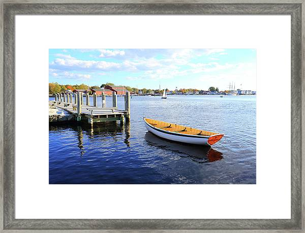 Connecticut Mystic Seaport Framed Print