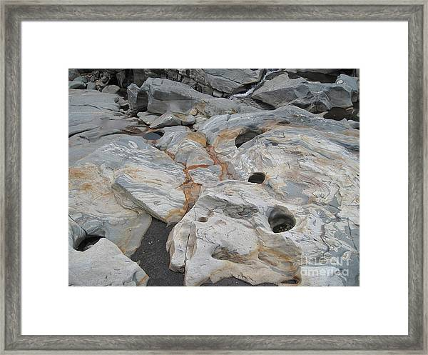 Connecticut River Bed Framed Print