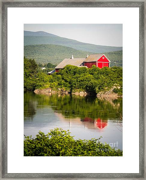 Framed Print featuring the photograph Connecticut River Farm by Edward Fielding