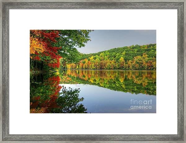 Connecticut River In Autumn Framed Print