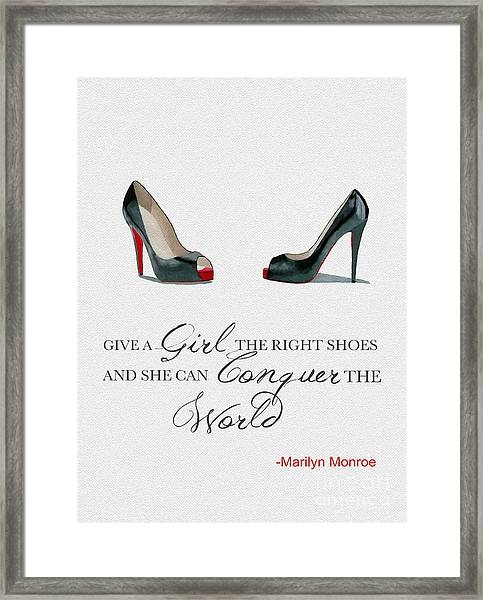 Conquer The World Framed Print