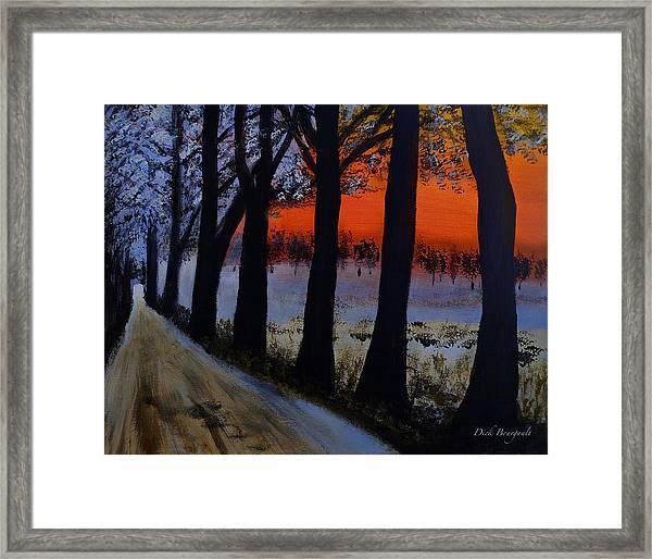 Conrad Road Sunrise Framed Print