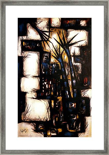 Framed Print featuring the painting Consecrated To Unconquerable Ends by R Johnson