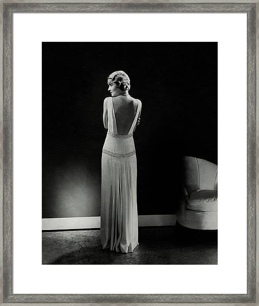 Constance Bennett As Seen From Behind Framed Print