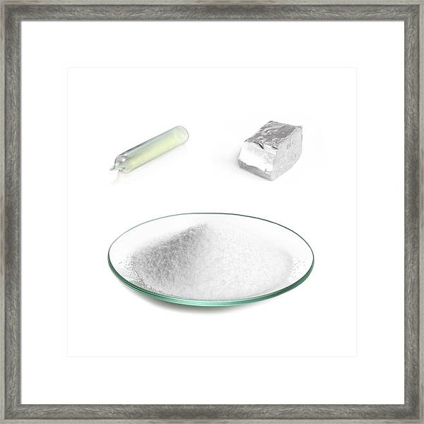 Constituents Of Table Salt Framed Print