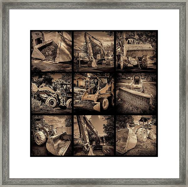 Construction Collage-1 Framed Print