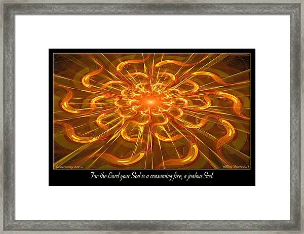Consuming Fire Framed Print