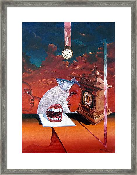 Consumption Of Time  Framed Print
