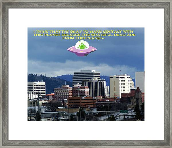 Contact With A Dead Planet 2 Framed Print