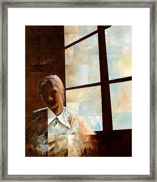 Contemplation Framed Print by Laurend Doumba