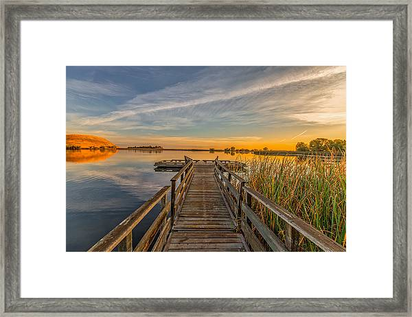 Contra Loma Dock At Sunrise Framed Print