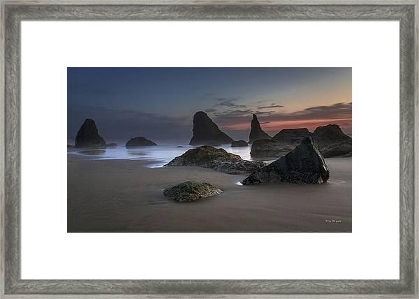 Contrasting Partners..... Bandon Oregon Framed Print