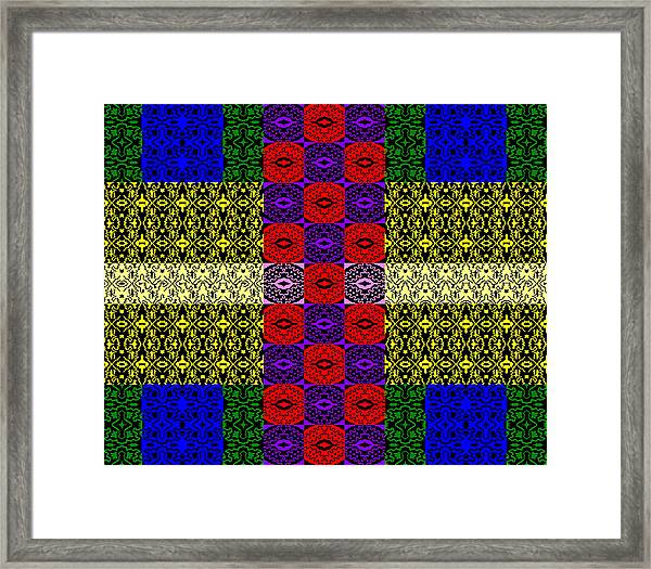 Control The Opposition Color Framed Print