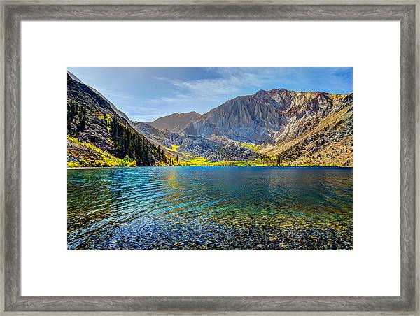 Convict Lake Fall Color Framed Print