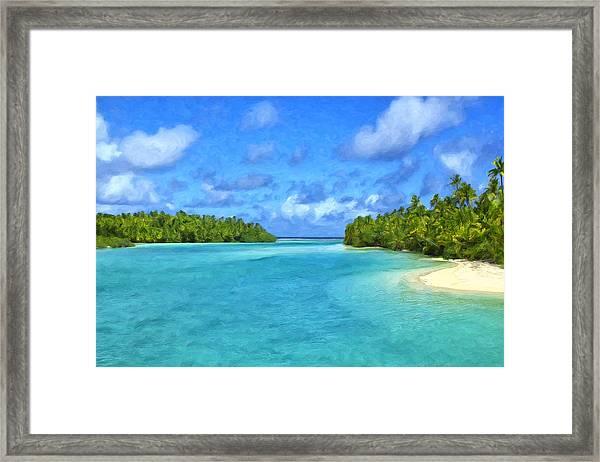 Cook Islands Lagoon Framed Print