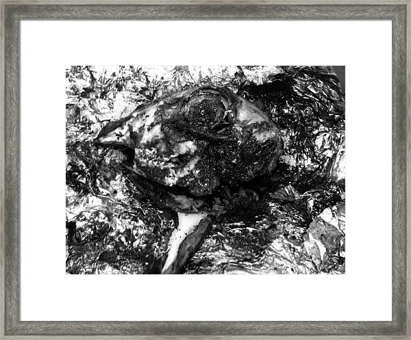 Cooked Lambs Head  Framed Print