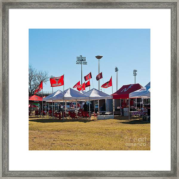 Cookout At Tailgating Event Framed Print by Mae Wertz